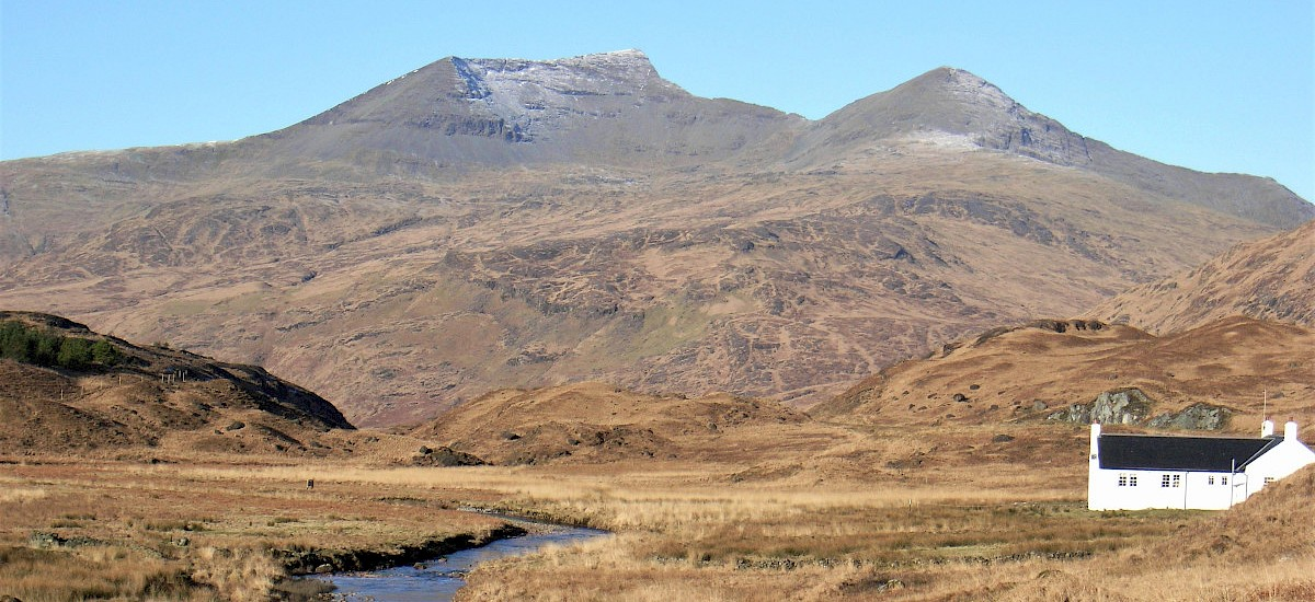 "Grandly spectacular, solitary Ben More, Isle of  Mull, ""The Last Munro!"""