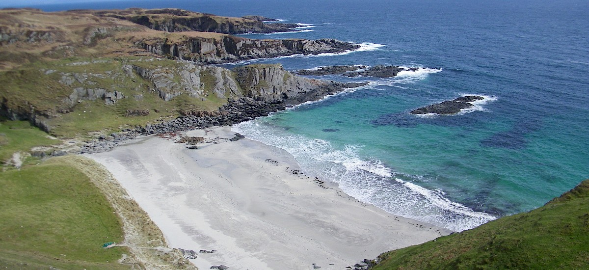Scoor Beach one of 28 splendid powder white sand beaches on the Ross of Mull and Iona