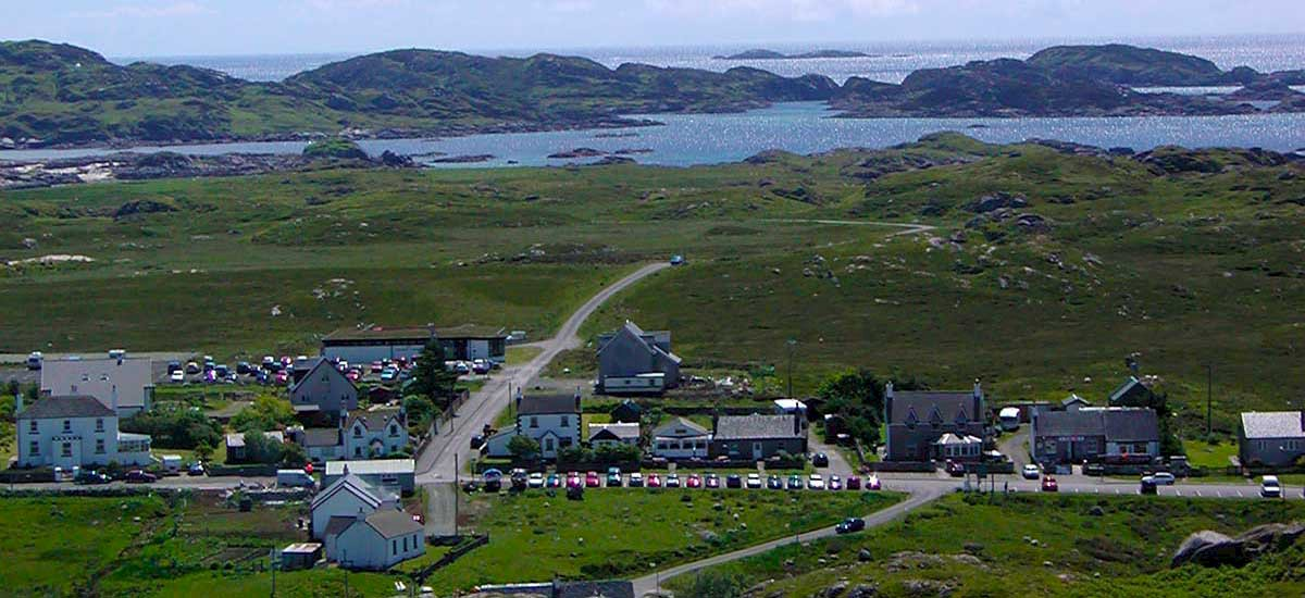 "Fionnphort (Port of the White Sands) Village on the Ross of Mull, a centre for exploring Iona, Staffa and Mull, ""The Sea Kingdom"""