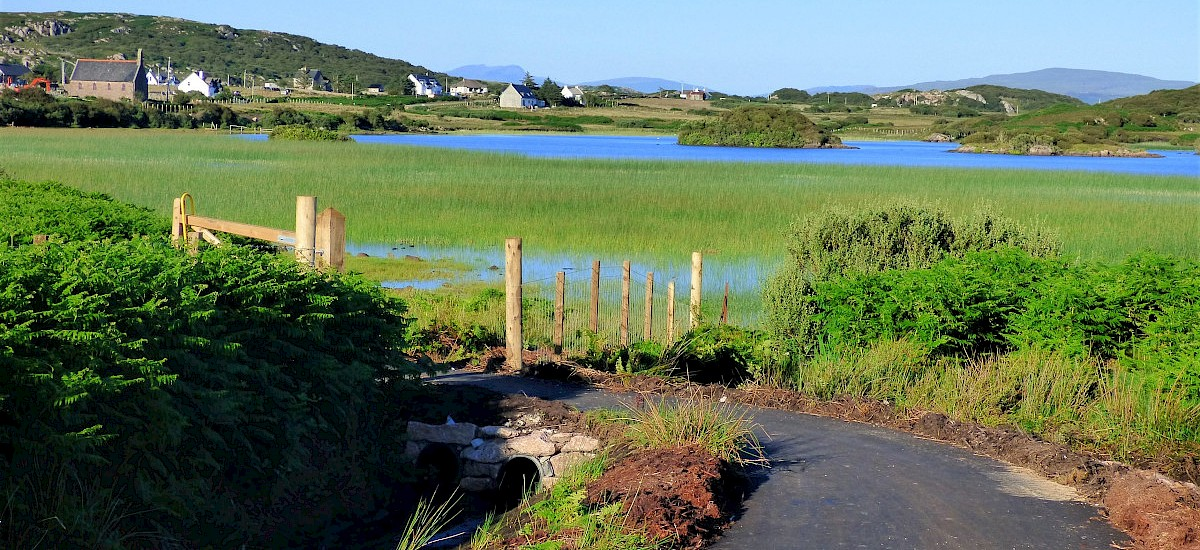 Our local, picturesque easy walking path to Loch Pottie and Creich from Fionnphort, where hen harriers are spotted!
